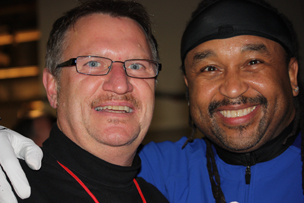 Steve with Carter Beauford